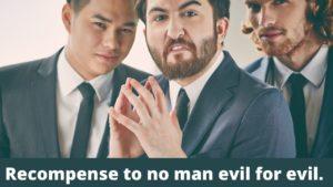 Man looks sinister like he's plotting revenge